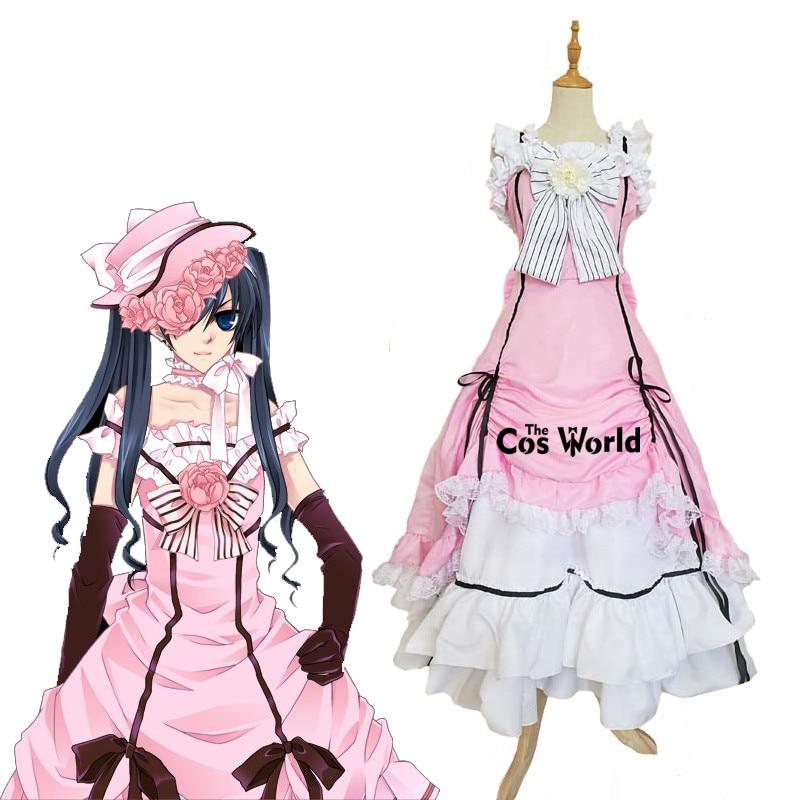 Kuroshitsuji Kuroshitsuji Ciel Phantomhive bez rękawów koronkowa pokojówka pełna sukienka, mundurek kostiumy do przebierania od hakuouki anime