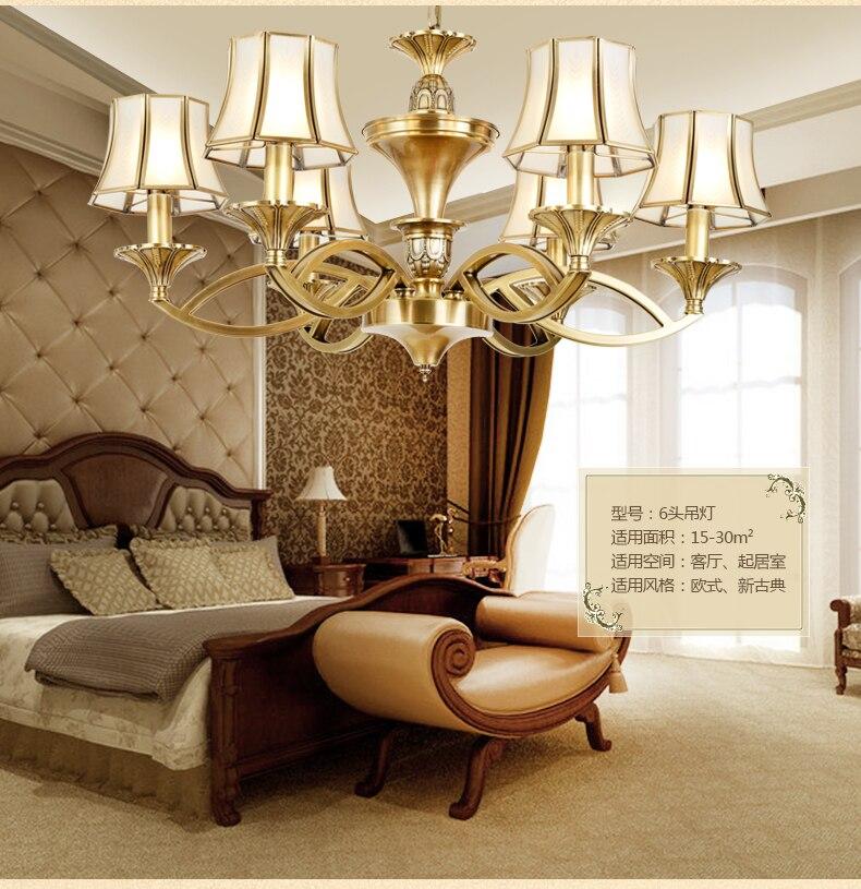 Moderno de cobre lámpara Lámparas de cobre iluminación casa de lujo sala...