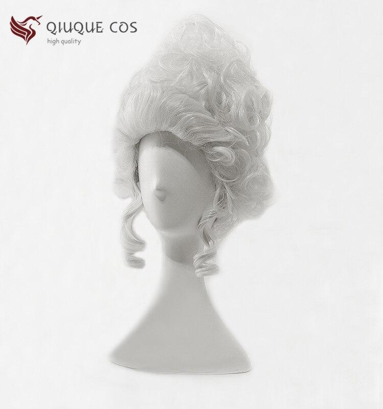 Marie Antoinette Princess Medium Curly Palace Scroll Heat Resistant Hair Cosplay Costume Wig + Free Wig Cap