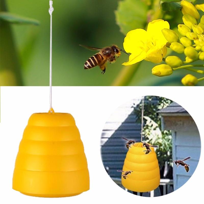Cazador de abejas trampa avispas mata plagas insectos mata mosquitos trampa para moscas atrapa Hornet colgando en el árbol para jardín herramientas de agricultura