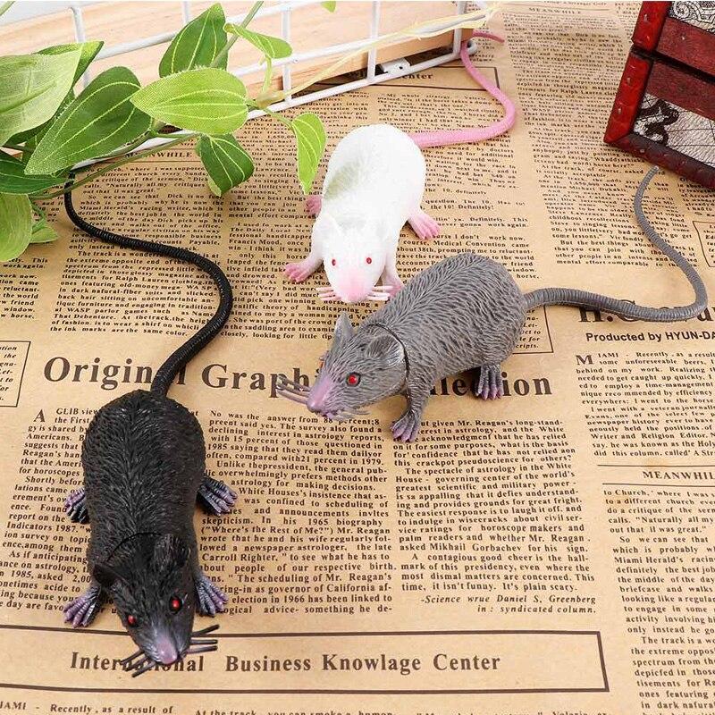 Ratón de simulación de PVC divertido y engañoso broma falso ratón realista modelo de accesorio Halloween regalo juguete decoración de fiesta para niños novedad y juguetes de mordaza