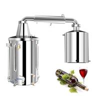 50L-210L Home Moonshine Still Alembic Spirits Alcohol Essential Oil Water Distiller Wine Making Kit W/Water Pump