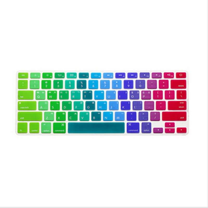 15X корейский язык Радуга США Клавиатура Обложка силиконовая защитная пленка для