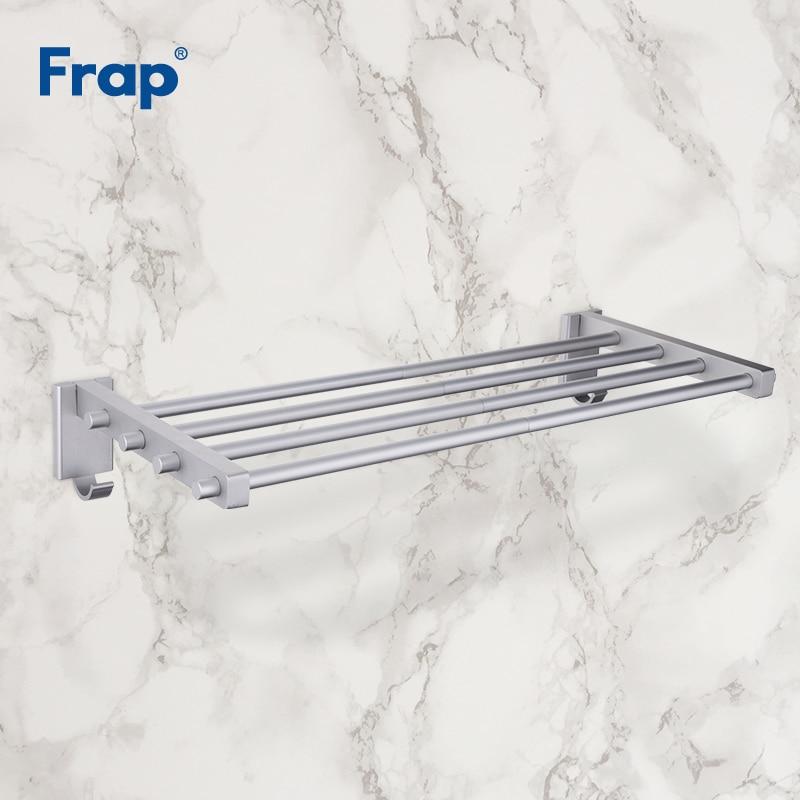 Frap-رف مناشف بأذرع متعددة ، جديد ، 55 سنتيمتر ، معلق بخطافات ، رف مناشف ، قضبان مناشف متحركة ، منتجات حمام ، إكسسوارات F809