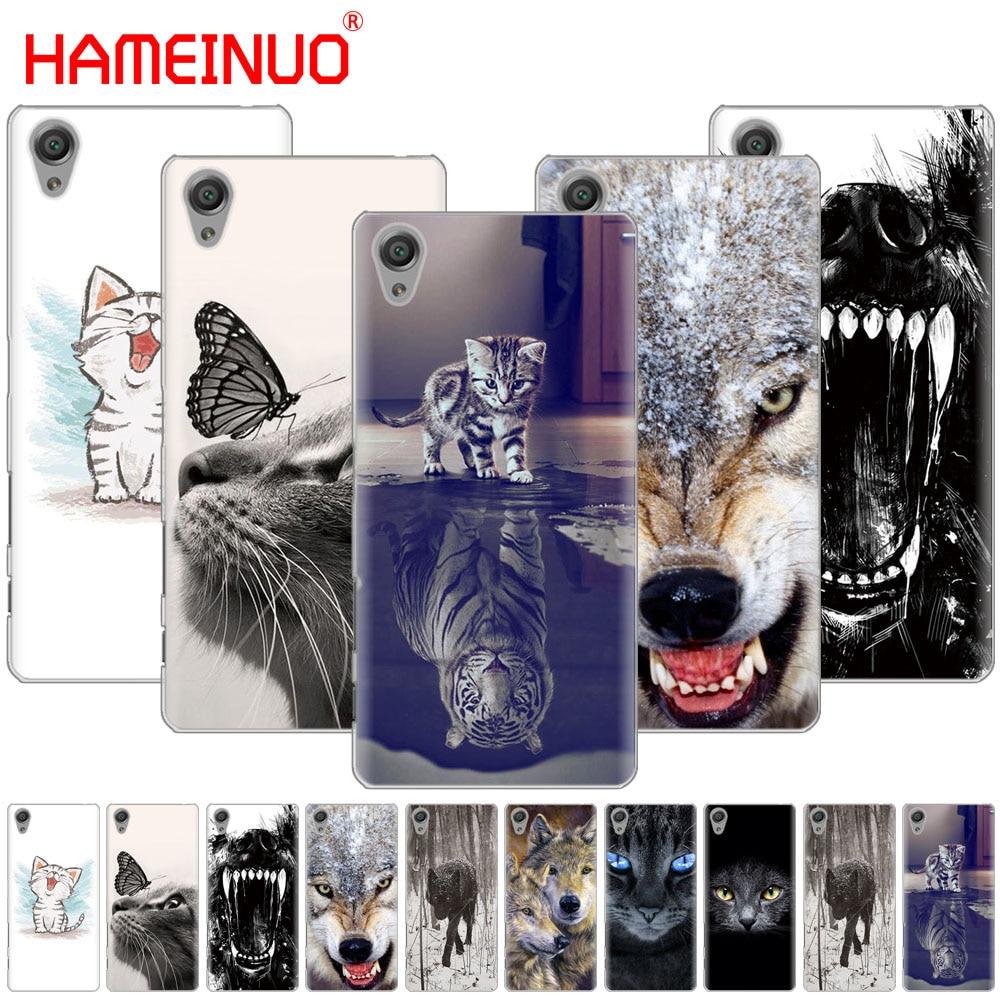 HAMEINUO gato Lobo animal del teléfono de la cubierta del caso para sony xperia C6 XA1 XA2 XA ULTRA X XP L1 L2 X XZ1 compacto XR/XZ PREMIUM