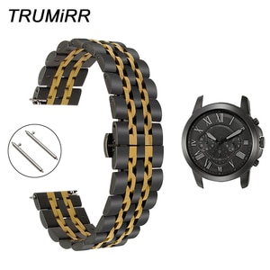 Quick Release Stainless Steel Watch Band for Fossil Q Tailor Gazer Founder Wander Marshal Crewmaster Grant Wrist Strap Bracelet