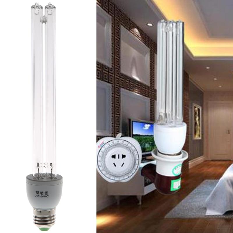 20 Вт E27 AC 220 В УФ светильник UVC ультрафиолетовая дезинфекция озона Стерилизация
