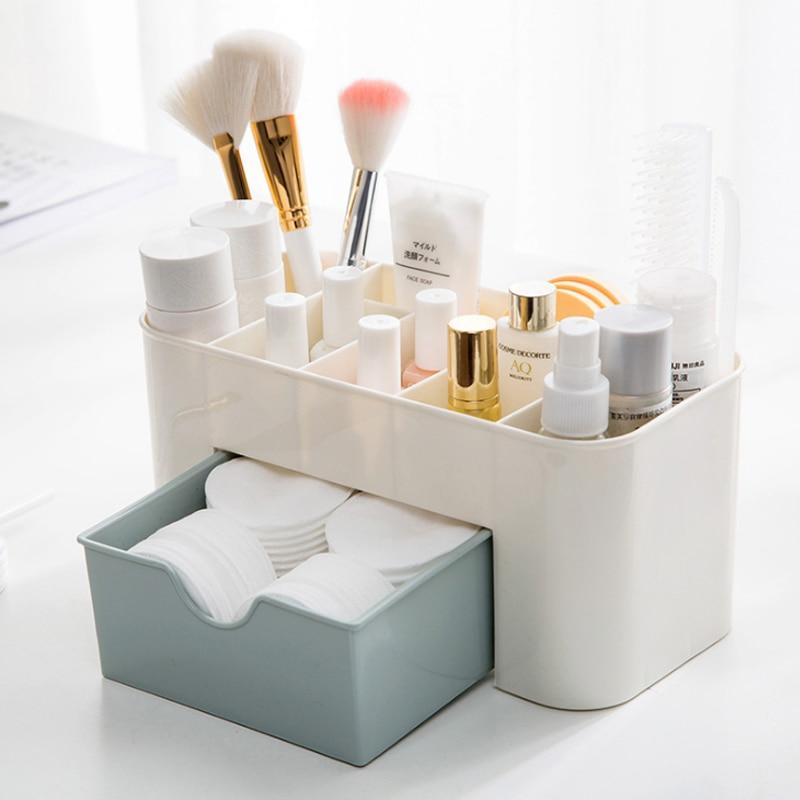 Bakingchef gaveta de plástico caixa cosmética desktop compõem caixa de armazenamento caixa de jóias caso organizador casa acessórios suprimentos material engrenagem
