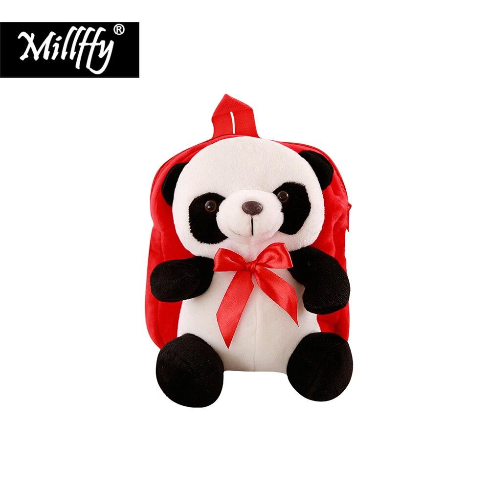 Dropshipping Millffy 30cm Panda de felpa oso mochila niño Infante guardería relleno mochila escolar de animales para niños regalos