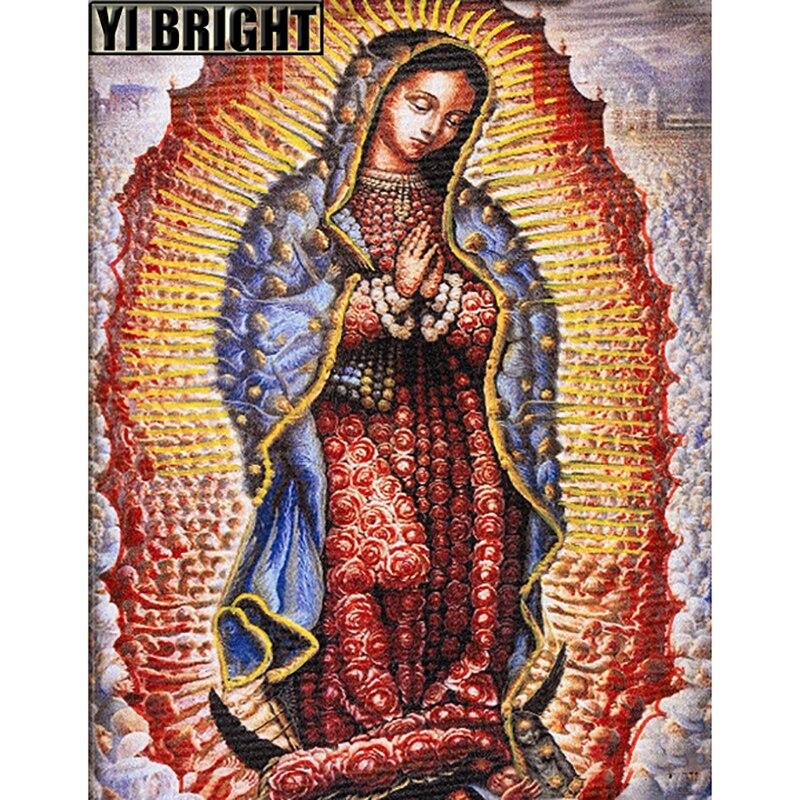 """De Diamantes mosaico Cruz puntada kits bordado diamante """"Serie de religión Virgen María"""" Diy diamante completo pintura decoración de Casa GT"""