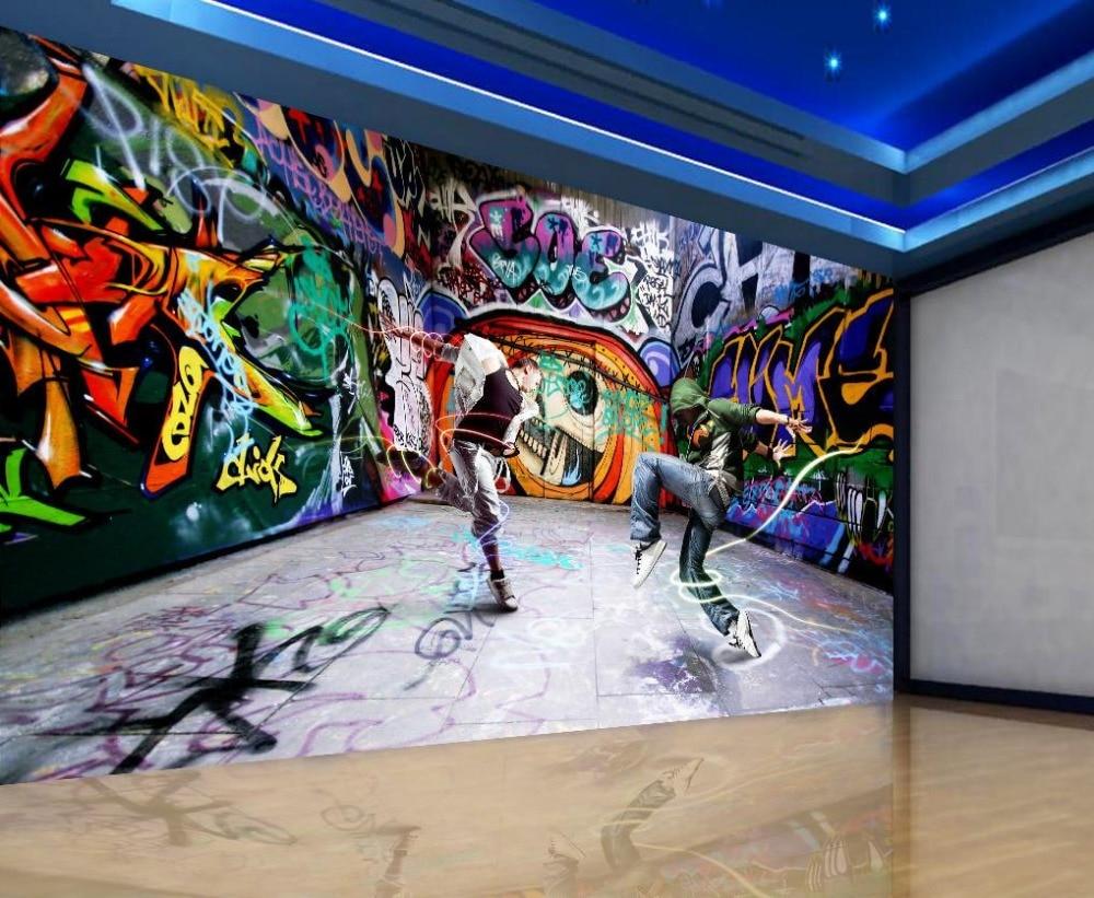 Танцевальная Молодежная граффити Фотофон 3d стереоскопические обои papel parede обои для украшения дома