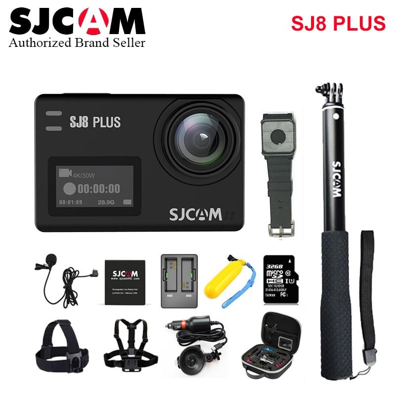 ¡Stock! SJCAM SJ8 Plus 4K Wi-fi Cámara deportiva impermeable Anti-vibración doble pantalla táctil 8 * Zoom Digital WiFi Control remoto acción DV