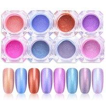 Chameleon Nail Glitter Powder Beauty Makeup High Gloss Powder Eye Shadow Cosmetic Powder Nail Art Decoration 1g