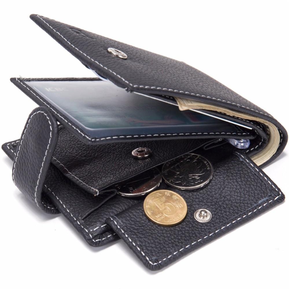 Мужские кошельки из натуральной коровьей кожи, брендовые кошельки с карманом для монет, кошелек с держателем для карт, модный кошелек