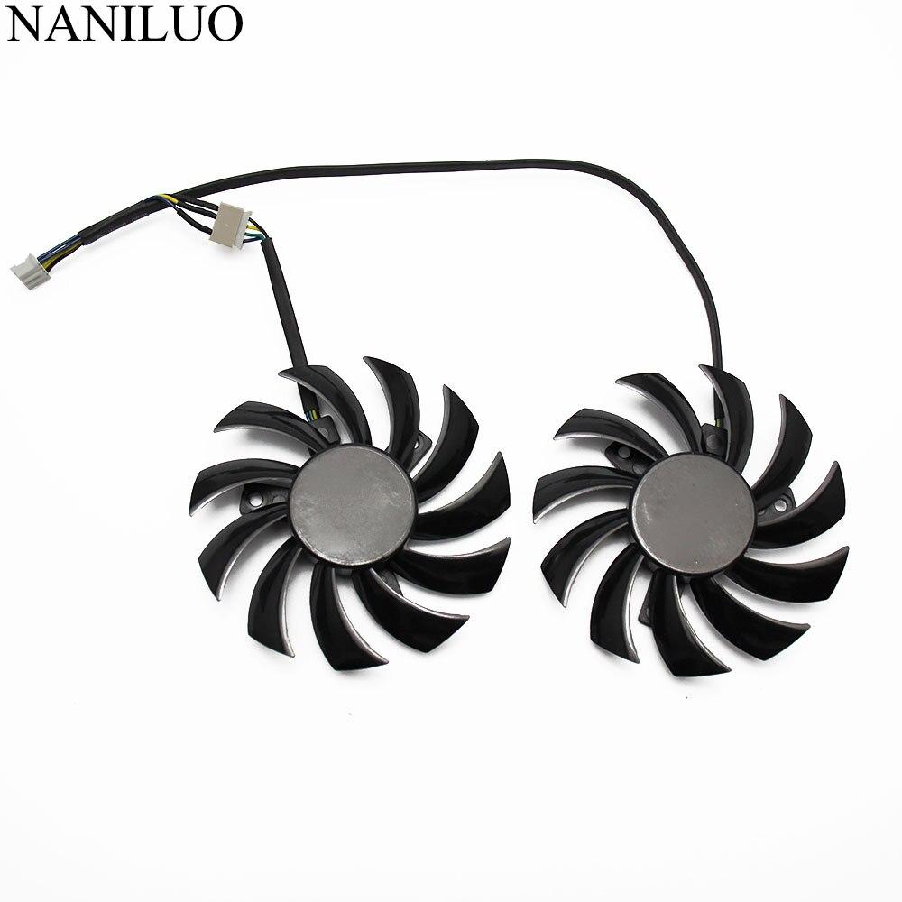 Вентилятор охлаждения для видеокарты MSI GTX 460 560 570 twin frozr ii Zotac GTX770, 2 шт./лот, 75 мм, PLD08010S12HH 0,35a