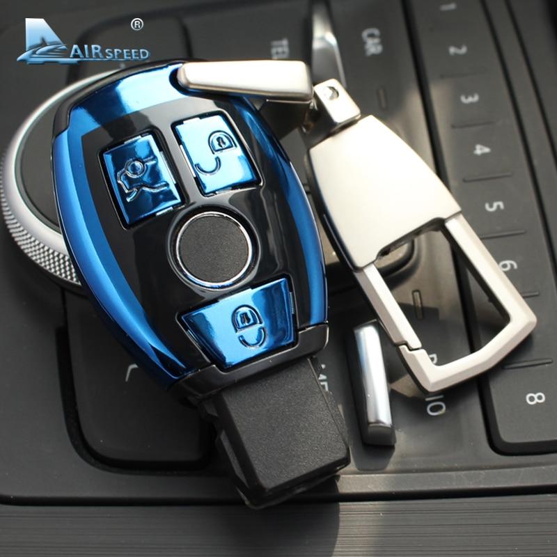 Airspeed ABS Car Remote Key Shell Key Case Cover for Mercedes Benz C Class W205 E Class W212 A B S GLC GLA GLK Car Accessories