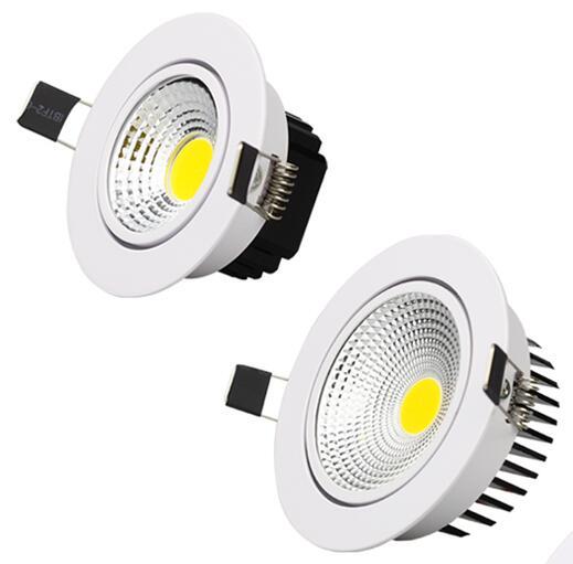 مصباح سقف Led بتقنية COB ، إضاءة داخلية ، ضوء خافت ، 3/5/7/9/12W ، 85-265V