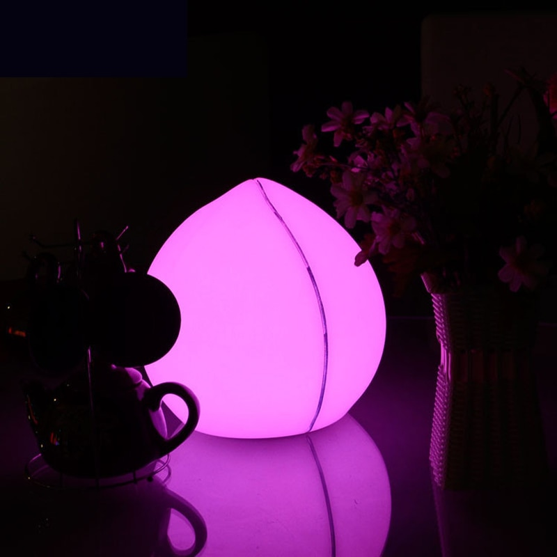 Remote Control Peach LED Night Light USB Rechargeable Table lamp IP68 Waterproof Bar Party Home Lighting bedroom RGB Desk Lamp enlarge