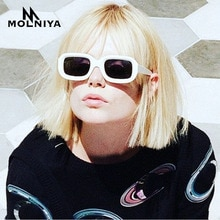 MOLNIYA-lunettes de soleil Rectangle pour femmes   Petites lunettes, violet, noir, blanc, rose, rouge, nouvelle collection, 2019