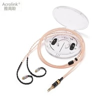 acrolink mmcx 3 5 plug diy pcocc audio earphone cable repair replacement headphone with 16 cores knitting