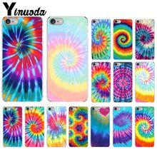 Yinuoda cravate colorant motif Batik arc-en-ciel peint beau téléphone accessoires étui pour iPhone 5 5Sx 6 7 7plus 8 8plus X XS MAX XR