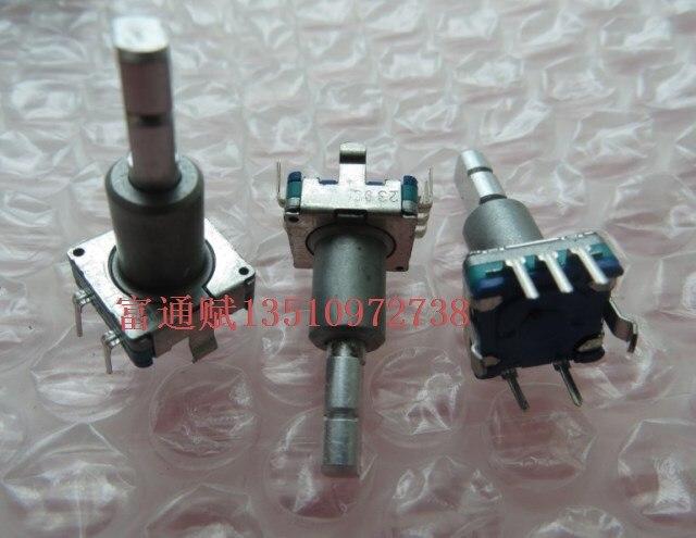Japón Alpes giratorio pulso codificador interruptor de codificación EC11 cinturón interruptor 30 poco 15 pulso 21mm de manejar