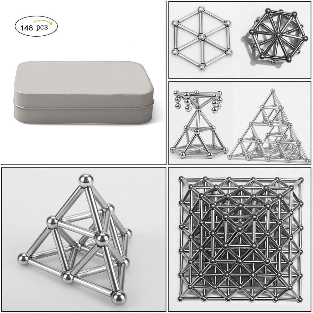 Магнитный строительный блок «сделай сам», 148 шт., строительные блоки, головоломка, укладка, игра, скульптура, настольные игрушки, тренировка и обучение мозгу.