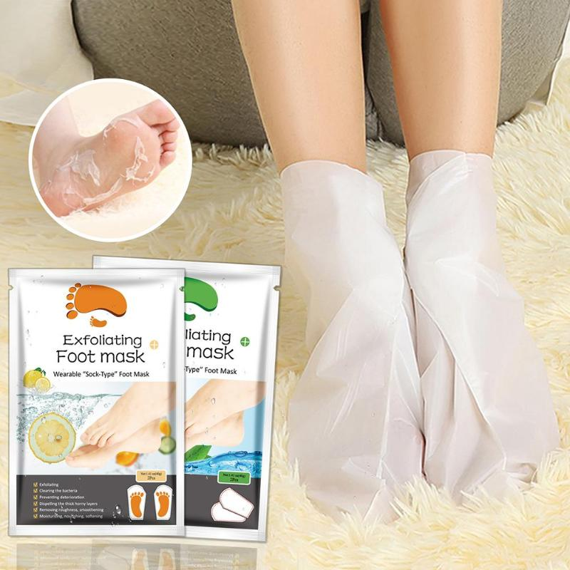 1Bag=2pcs Exfoliating Foot Mask Socks For Pedicure Socks For Feet Peeling Foot Mask Health Care Skin