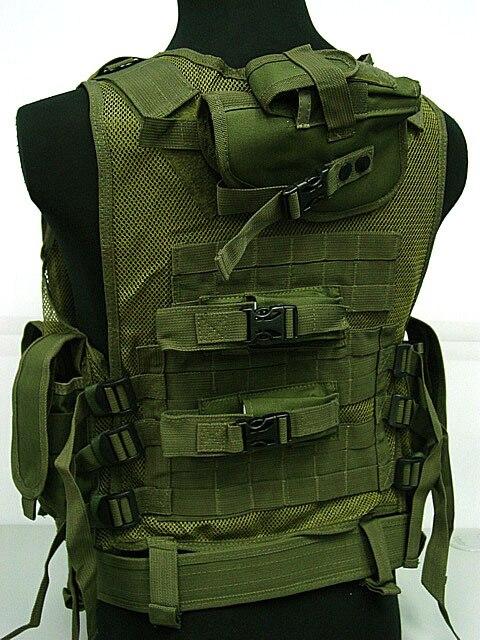 Chaleco de malla de combate táctico Airsoft de lujo OD Digital ayu Camo BK Camo bosque CB MC
