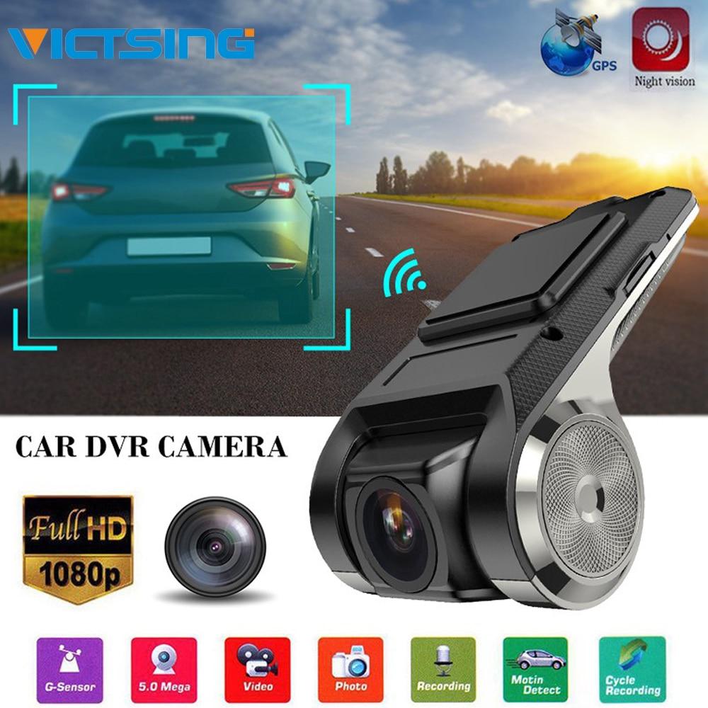 VicTsing 1080P רכב DVR מצלמה מקליט וידאו WiFi ADAS G-חיישן מקליט אנדרואיד אוטומטי דיגיטלי וידאו מקליט דאש מצלמת מלא HD