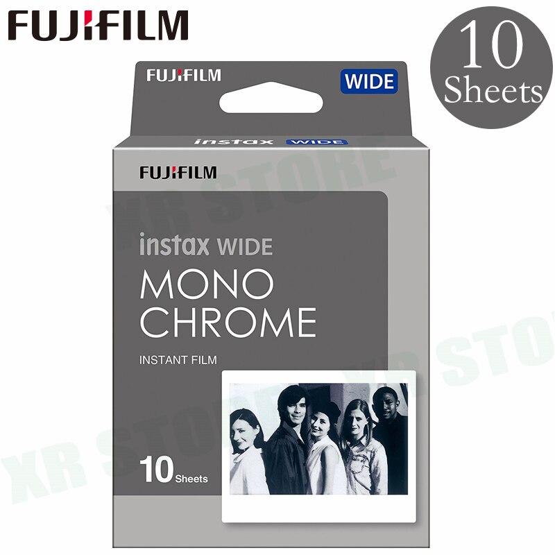 10 Films Fujifilm Instax Wide MONOCHROME Instant For Fuji Camera 100 200 210 300 500AF Lomography photo