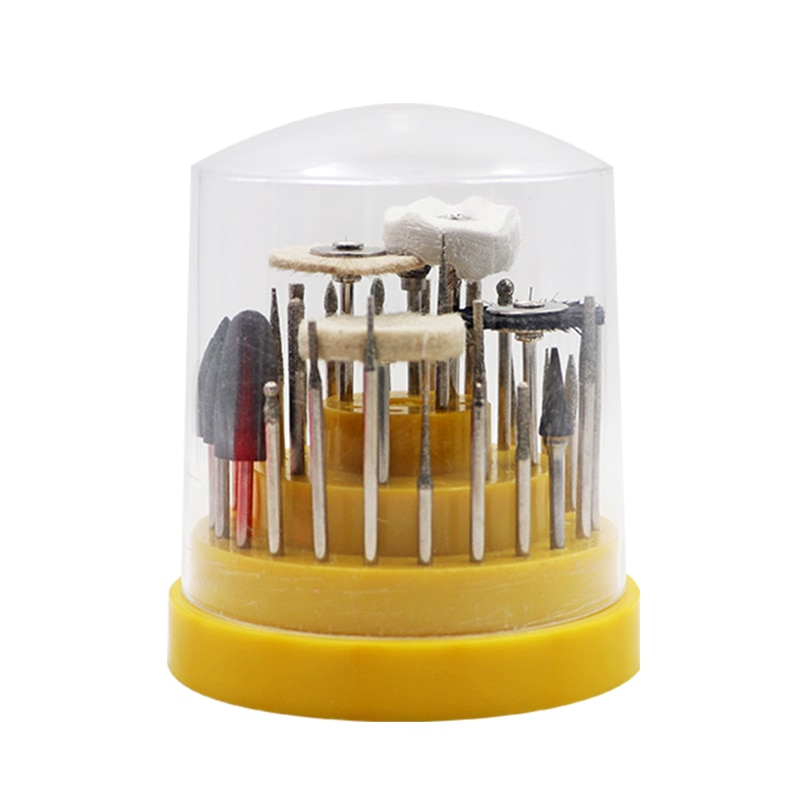 41 unids/set Dental Lab de silicona de caucho rotatorio de tungsteno de acero de carburo Dental Burrs Lab diente taladro Dental materiales de laboratorio