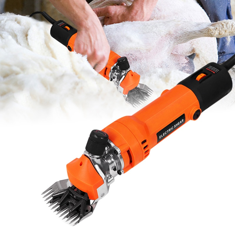 Tesoura de ovelha elétrica tosquiadeira corte grooming machin para cabra lhama cavalo lbshipping
