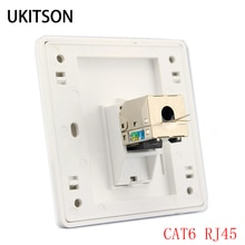 1 포트 cat 6 rj45 이더넷 월 페이스 플레이트 압출 와이어 소켓 86x86mm xbox 네트워킹 lan 코드 용