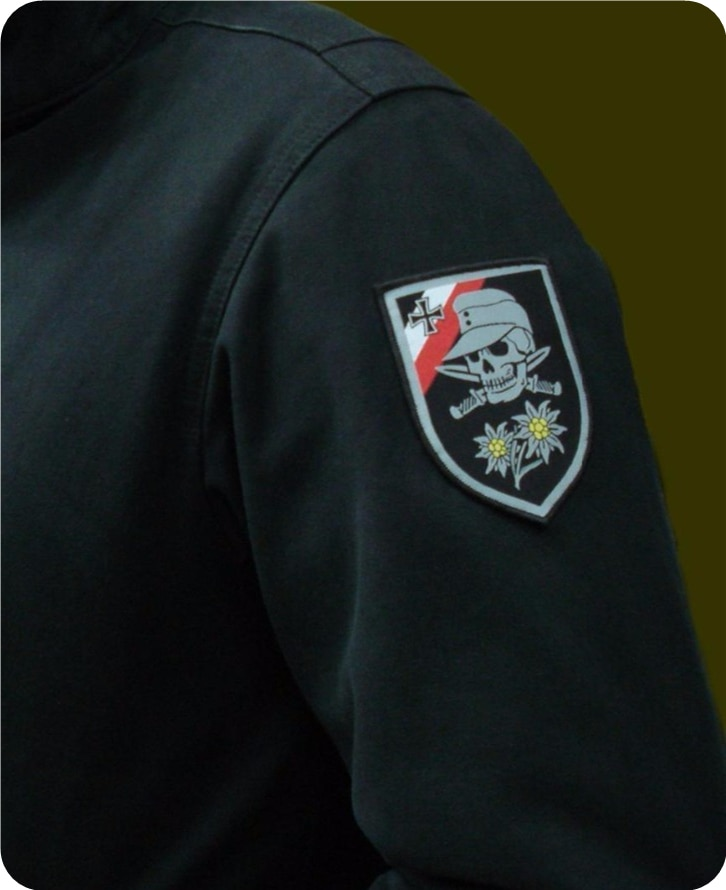 WW2 ドイツ頭蓋骨織パッチパッチ