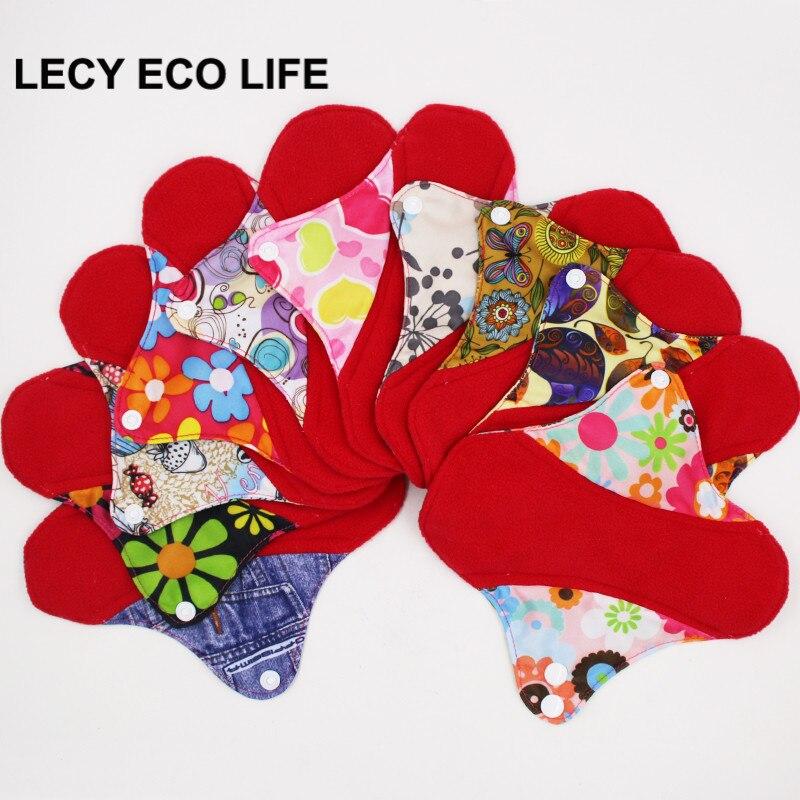 Doublure de culotte intérieure en micropolaire rouge réutilisable, en tissu menstruel doux et sain, coussinets hygiéniques avec boutons réglables, 1 pièce