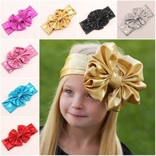 Baby Girl Hair Accesories baby birthday Crown Girl Kid Stretch bowknot Elastic Hairband Headband Baby Knot Head Wrap Headwear
