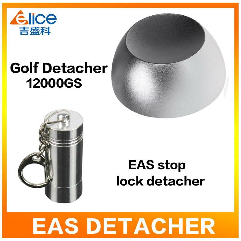 1units 12000GS EAS System Tag Remover Super Magnet Golf Detacher  For Supermarket Clothes store+ 1pcs stop lock detacher
