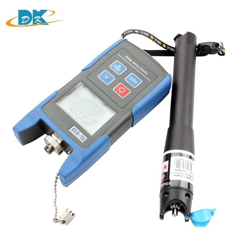 Medidor de potencia óptica TL510-50 ~ + 26dBm con conector 10MW TL532 VFL FC SC (ST LC), láser TL510 medidor de potencia, probador de fibra óptica
