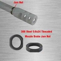 308 Steel 5/8x24 Crush Washer Type Adjustable Jam Nut for Muzzle Brake -2PCS