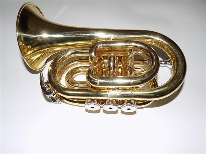 Bb Pocket trumpets Bell 104mm with ABS case and mouthpiece Musical instruments professional enlarge