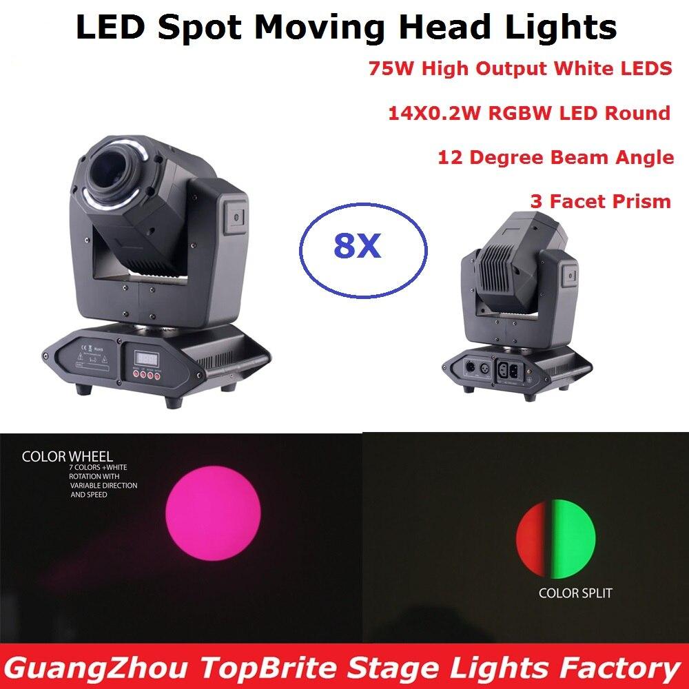 75W LED luces con cabezales móviles haz/luces DMX512 faros con haz móvil Dj Profesional barra luces DMX etapa máquina