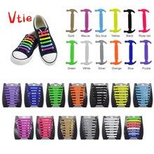 16 pezzi/set lacci senza lacci atletici RunningTie lacci elastici in Silicone per scarpe da ginnastica Zapatillas scarpa pizzo gomma