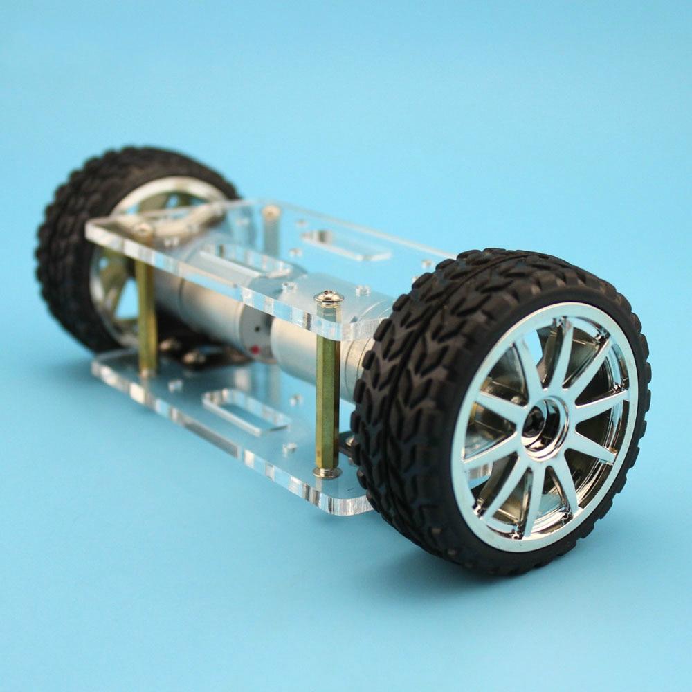 JMT placa acrílica MARCO DE Chasis de coche auto-equilibrado de dos ruedas 2 ruedas 2WD DIY Robot Kit 176*65mm juguete de invención F23639