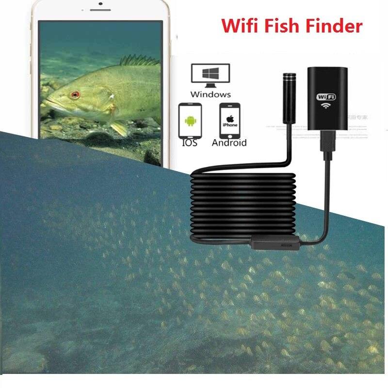 10m15m WIFI inalámbrico buscador de peces de visión nocturna de HD cámara para cámara de pesca submarina inteligente para Android iOS teléfono