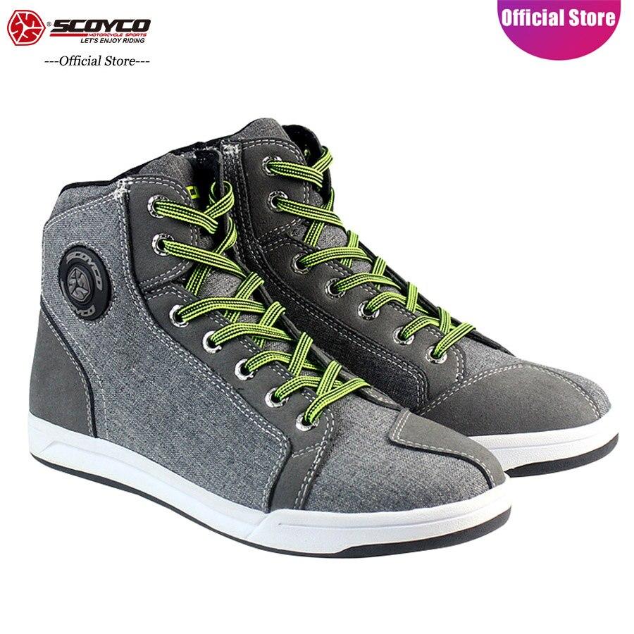 Zapatos de moto SCOYCO, antideslizantes, transpirables, a prueba de golpes, protectores de tobillo alto informal MBX/MTB/ATV, botas de montar MT016