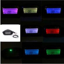 Universal Motorcycle LCD Digital Speedometer Odometer Backlight Motorcycle for 2-4 Cylinders 1300r/min