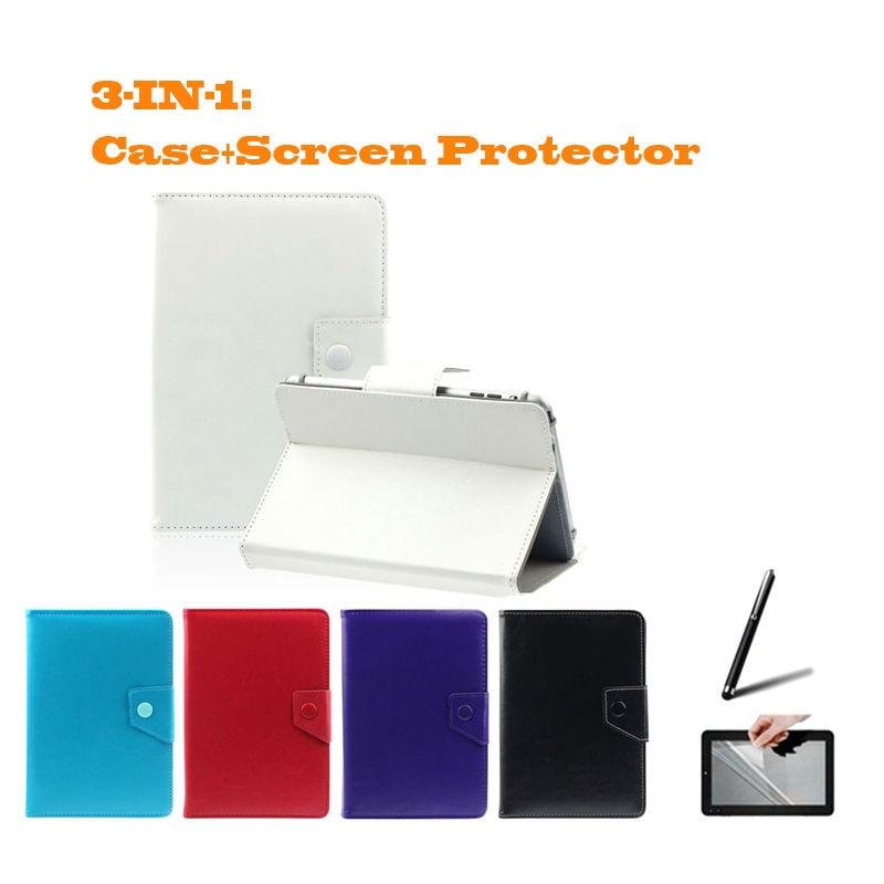 Para Modecom FreeTAB 1014 IPS X4 3G +/1017 IPS2 X4 + 10,1 pulgadas Universal Tablet PU Funda de cuero regalo gratis