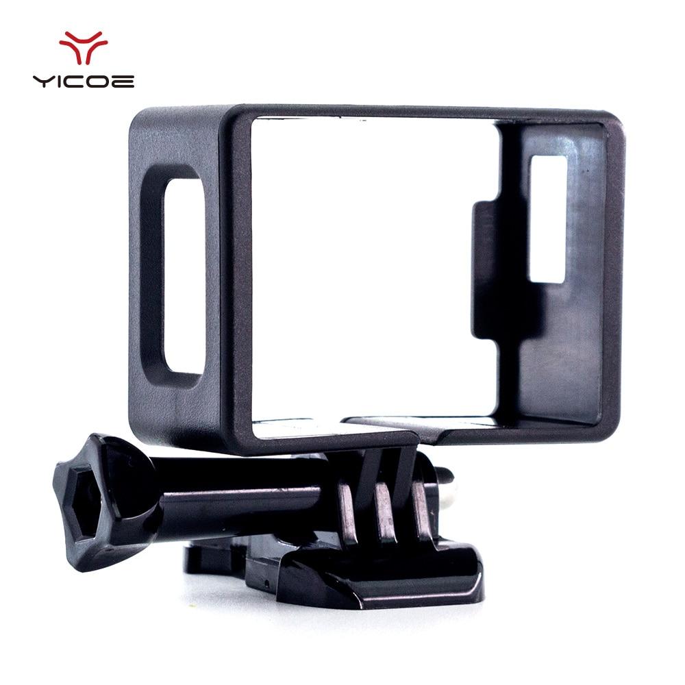 Coque de cadre pour EKEN H9R SJCAM SJ4000 WiFi Action Sport caméra bordure en plastique boîtier de étui de protection boucle de montage de base