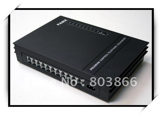 Teléfono PBX/PABX/interruptor de teléfono/mini pabx-3CO líneas x 8 extensiones